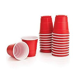 American Red Shot Cups